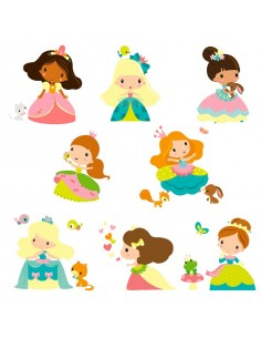 Stickers Fée & Princesse,Sticker Frise: Les Princesses