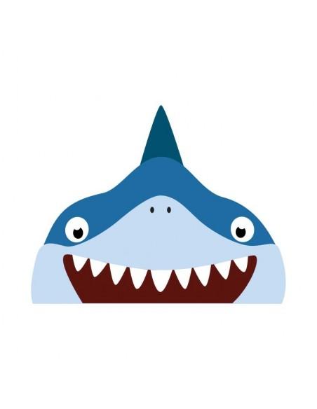 Stickers WC,Sticker WC: Tête de requin