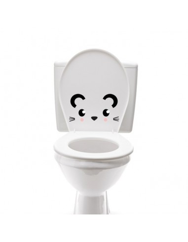 Stickers WC,Sticker WC: Tête de souris