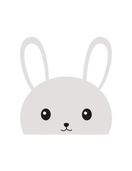 Stickers WC,Sticker WC: Tête de lapin