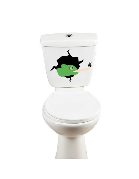 Stickers WC,Sticker WC: Caméléon