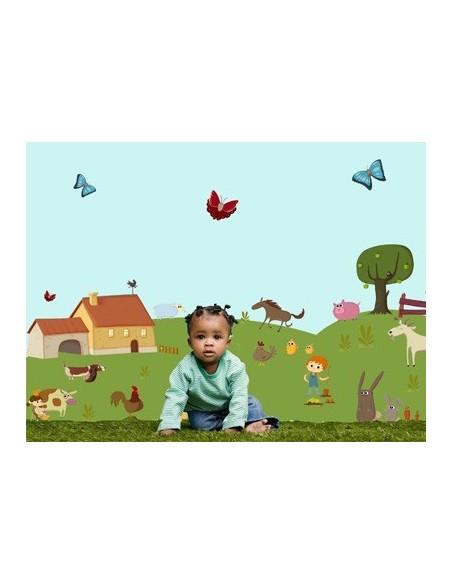 Stickers Ferme,Sticker enfant: Pommier Ferme