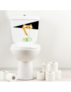 Stickers WC,Sticker WC: Chat et Pelote