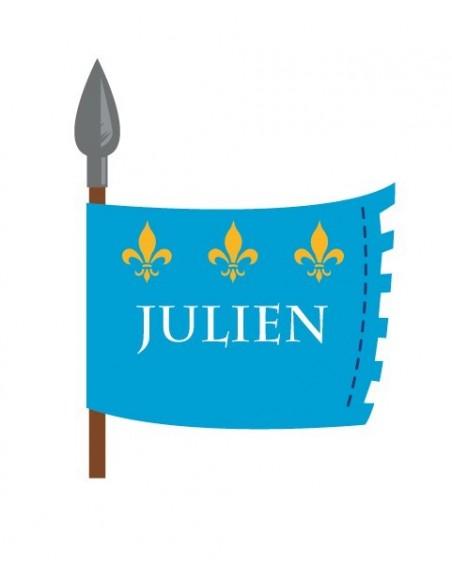 Stickers Prénom,Sticker Prénom : drapeau chevalier