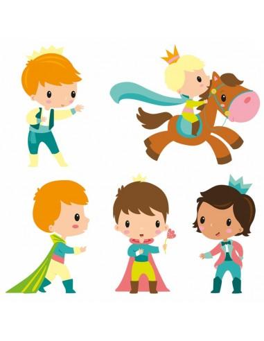 Stickers Fée & Princesse,Stickers frise: Les Princes