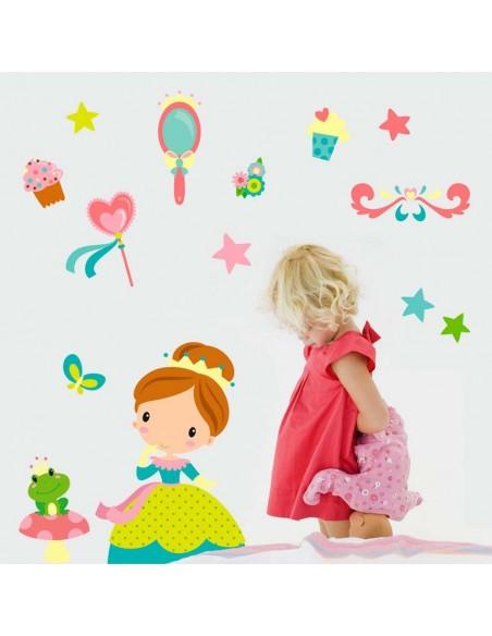 Stickers Fée & Princesse,Sticker Enfant: Princesse Romane