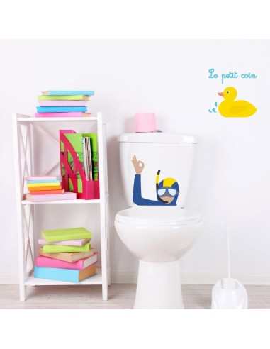 Stickers WC,Sticker WC: Plongeur