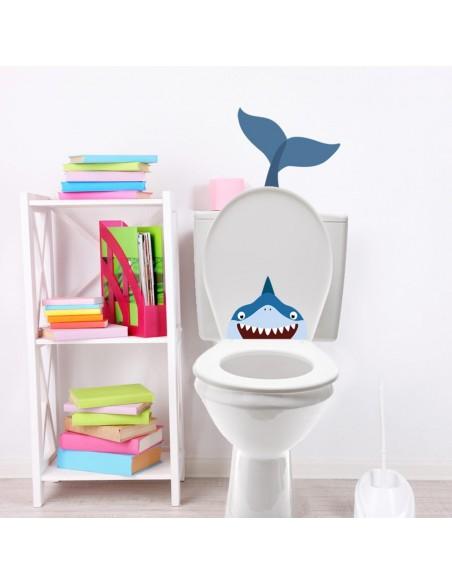 Stickers WC,Sticker WC: Queue de Baleine