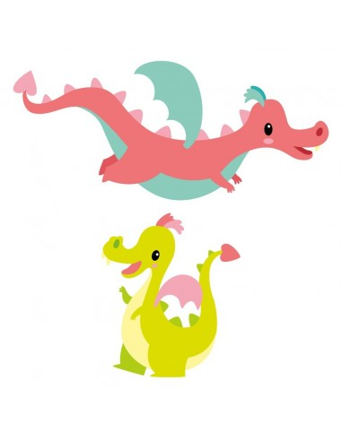 Stickers Fée & Princesse,Stickers frise: 2 dragons