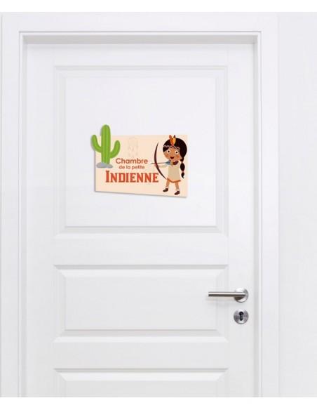 Plaques de porte,Plaque de porte: Indienne