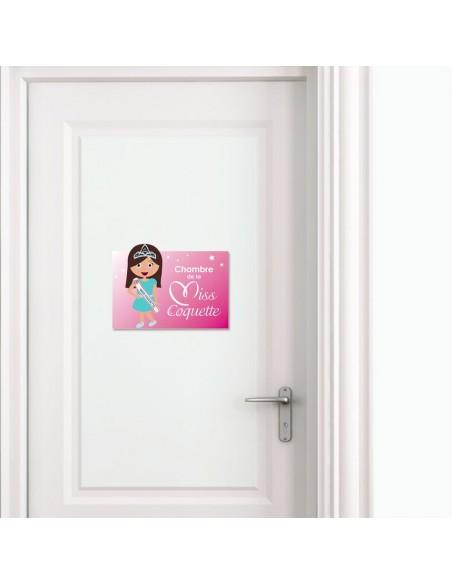Plaques de porte,Plaque de porte: Miss coquette