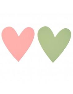 Porte-Manteaux,Patères Coeurs: Rose & Vert