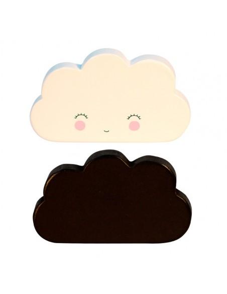 Porte-Manteaux,Patères nuages: Noir & Blanc