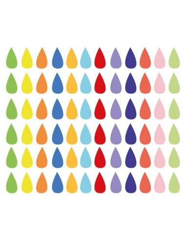 Stickers Graphiques,Stickers muraux: Gouttes de pluie