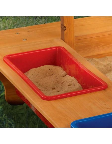 Mobilier extérieur,Bac à sable avec auvent