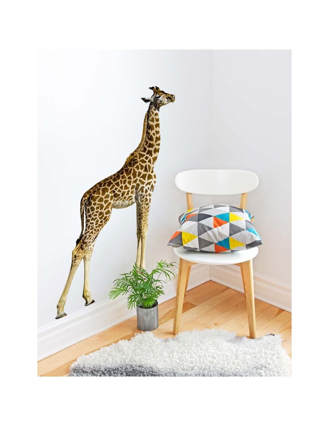 Sticker animal Tête de girafe 20x30cm 52D369BE6832
