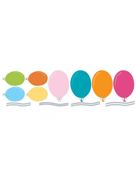 Stickers Bébé,Stickers bébé: Ballons de Couleur (x8)