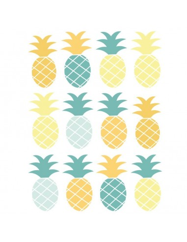 Stickers Graphiques,Stickers muraux: Frise ananas - Vert
