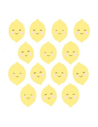Stickers Graphiques,Stickers muraux: Frise citrons