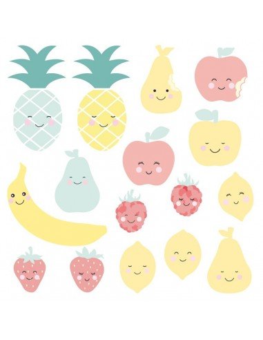 Stickers Graphiques,Stickers: Frise fruits