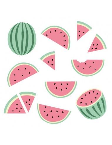 Stickers Graphiques,Stickers muraux: Frise Pastèques