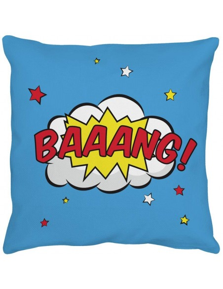 Coussins Déco,Coussin enfant: Super-Héros BAAANG