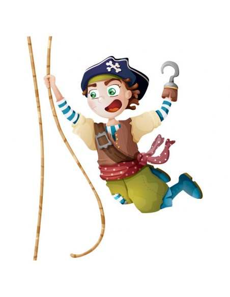 Stickers Pirates,Sticker pirate: Capitaine Sam