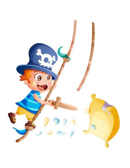 Stickers Pirates,Sticker bébé pirate: Hugo