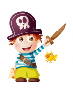 Stickers Pirates,Sticker bébé pirate: Julien