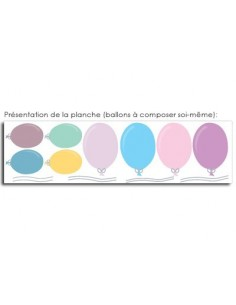 Stickers Bébé,Stickers bébé: Ballons Pastel (x8)