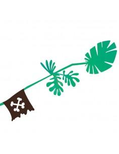 Stickers Pirates,Sticker mural pirate: Branche drapeau