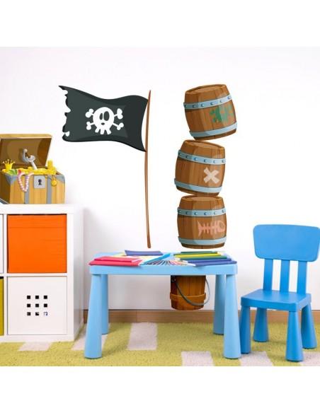 Stickers Pirates,Stickers muraux: Matériel de pirate