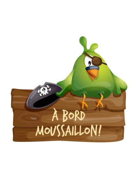 Stickers Pirates,Sticker perroquet pirate: A bord moussaillon!