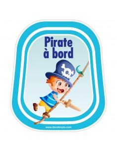 Stickers Bébé à Bord,Bébé à bord Pirate Hugo