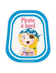 Stickers Bébé à Bord,Bébé à bord pirate Lily