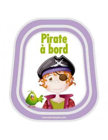 Stickers Bébé à Bord,Bébé à bord Pirate Barbe Rousse