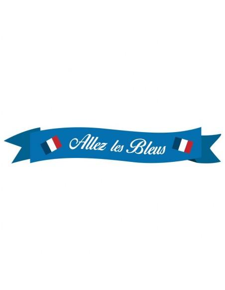 """Stickers Sport,Sticker Foot: Banderole """"Allez les bleus"""""""