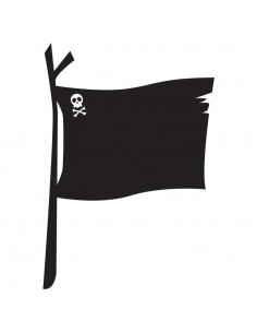 Stickers Pirates,Sticker ardoise enfant: drapeau des pirates