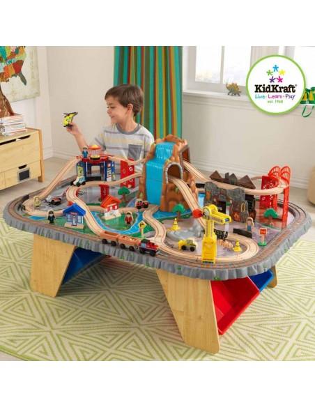 Table de jeux d'activités,Ensemble table et circuit Waterfall