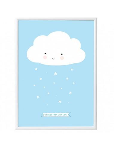Poster enfant,Poster Nuage Bleu