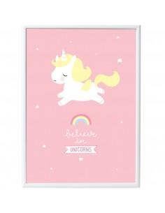 Poster enfant,Poster Bébé licorne