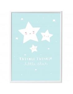 Poster enfant,Poster étoiles Bleu