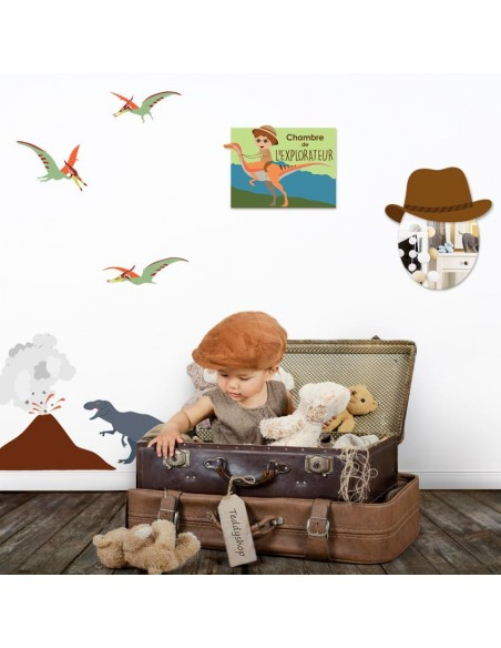 Stickers Indiens & Cowboys,Kit Déco: Explorateur