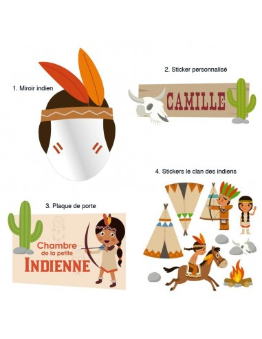 Kit Deco Promo,Kit Déco: Indienne Far west