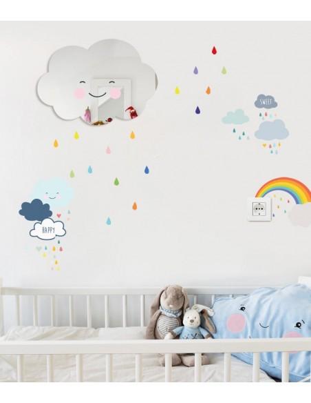 Kit Deco Promo,Kit Déco: Nuage et pluie