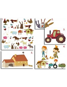 Kit Deco Promo,Kit Stickers: Animaux de la Ferme