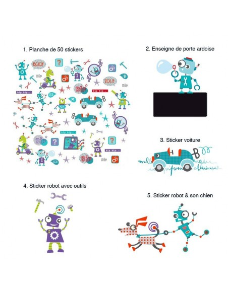 Kit Deco Promo,Kit Stickers: Robots