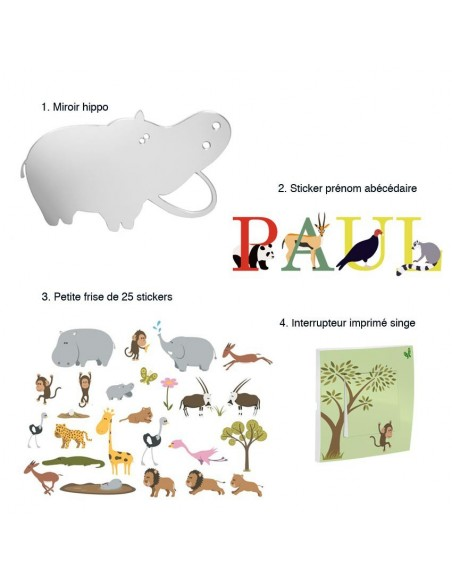 Kit Deco Promo,Kit Déco: Hippo de la savane