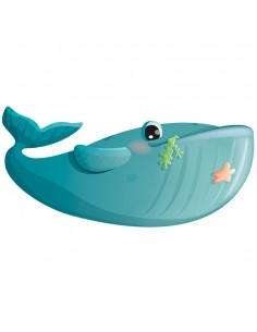 Sticker poisson : Baleine...