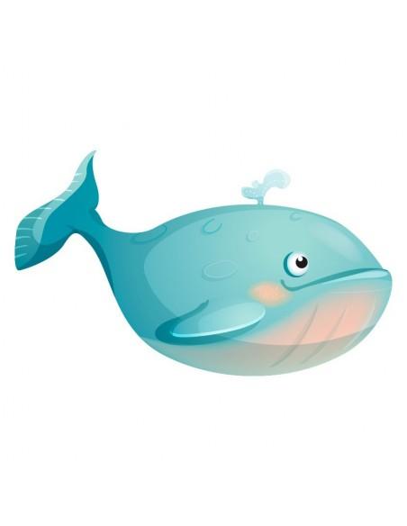 Stickers de la Mer,Sticker poisson: Baleine Calypso
